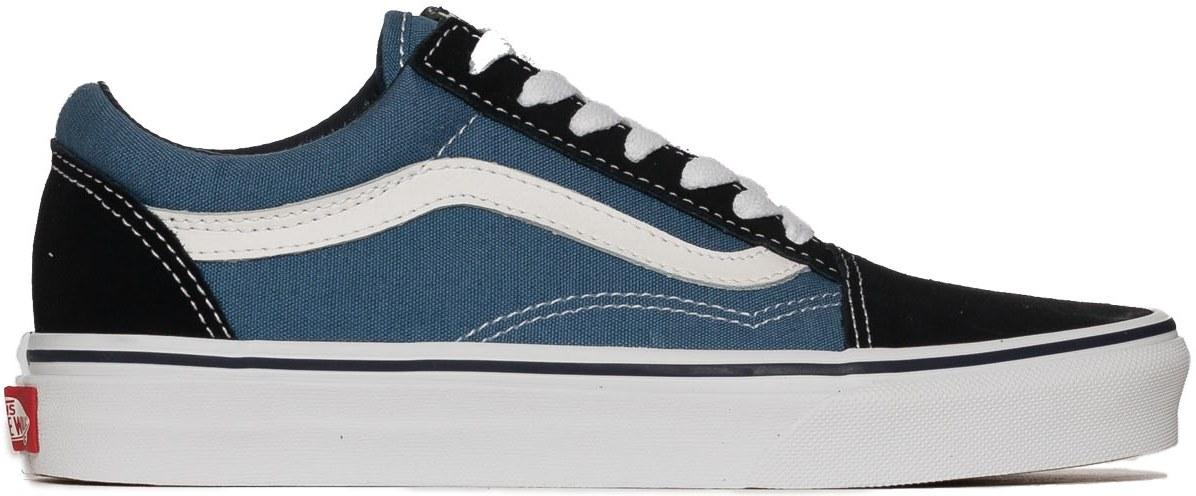 vans bleu blanche