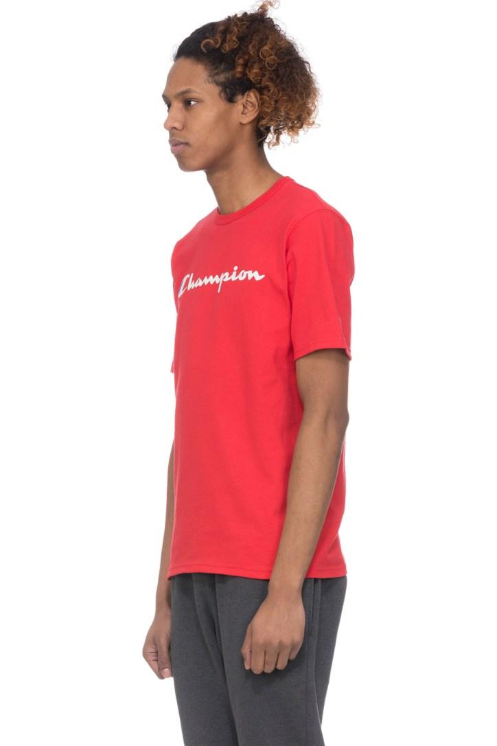 Rouge Champion Men/'s logo sur le côté T-shirt
