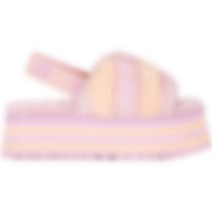 UGG - Disco Stripe Slide - Primrose/Pink Dusk Combo