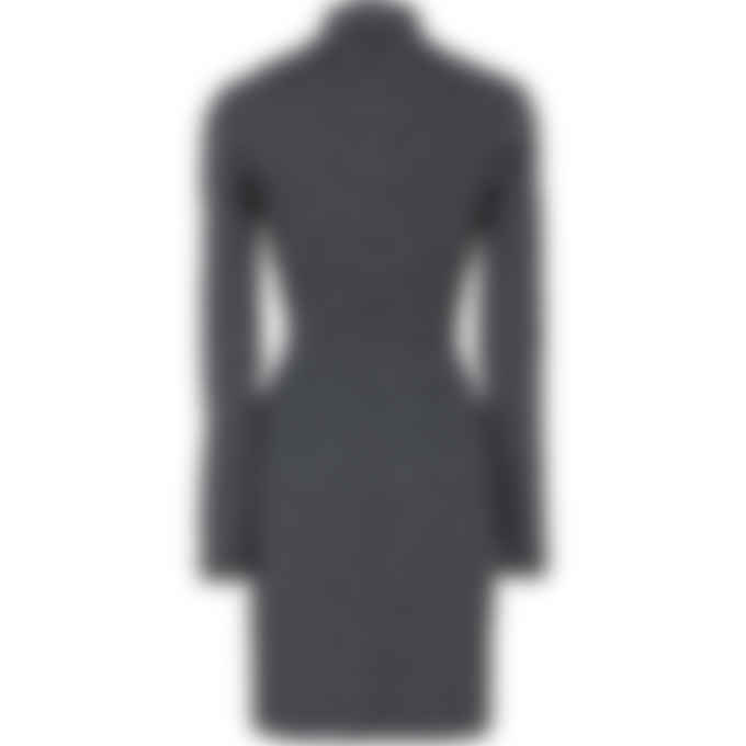 MISBHV - Reflective Monogram Quarter Zip Dress - Black