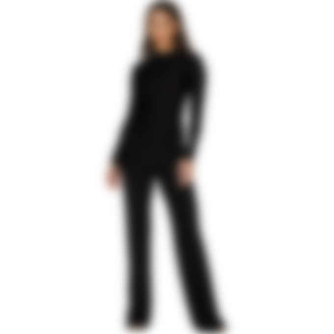 MISBHV - Velour Monogram Long Sleeve Bodysuit - Black