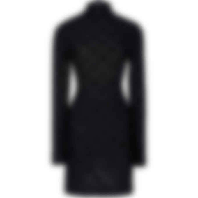 MISBHV - Velour Monogram Long Sleeve Dress - Black