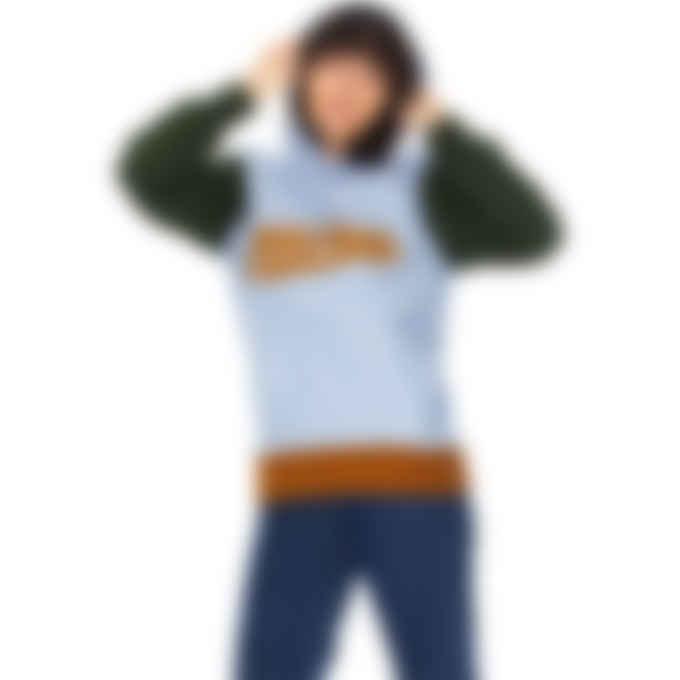 Maison Kitsuné - Varsity Fox Colorblock Hoodie - Light Blue