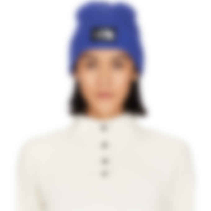 The North Face - Logo Box Cuffed Beanie - TNF Blue