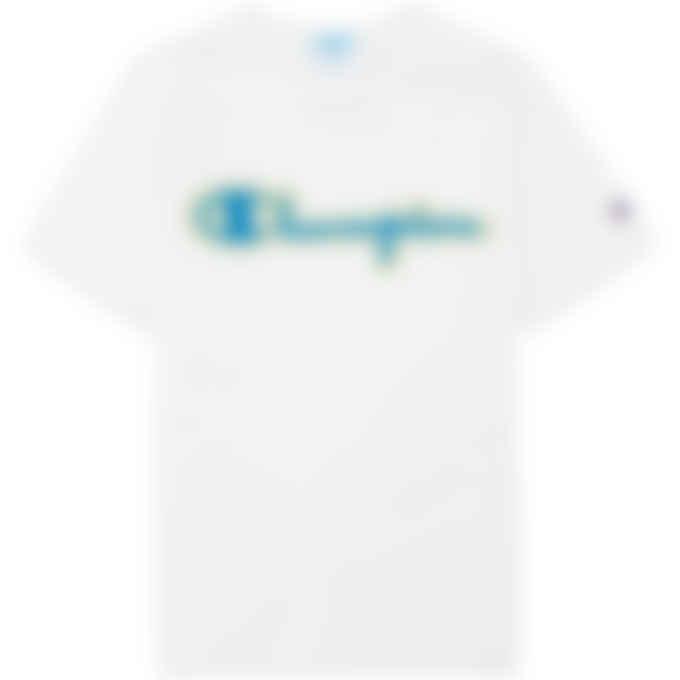 Champion - Heritage Chainstitch Script Logo T-Shirt - White