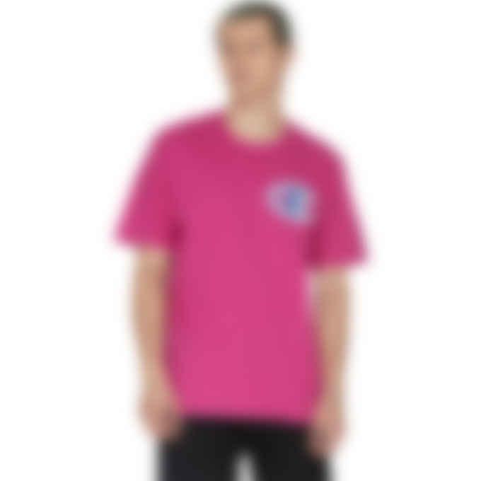 Champion - Heritage Floss Stitch 'C' logo T-Shirt - Peony Parade Pink