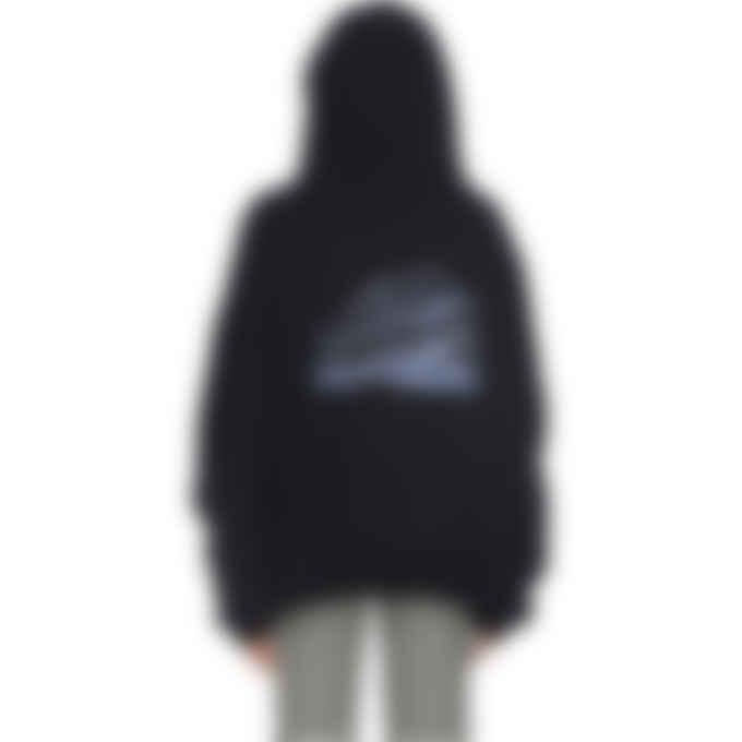 influenceu - Lucid Dreams Oversized Crystal Hoodie - Black