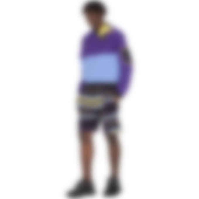Kenzo - Colorblock Pullover Sweater - Aubergine