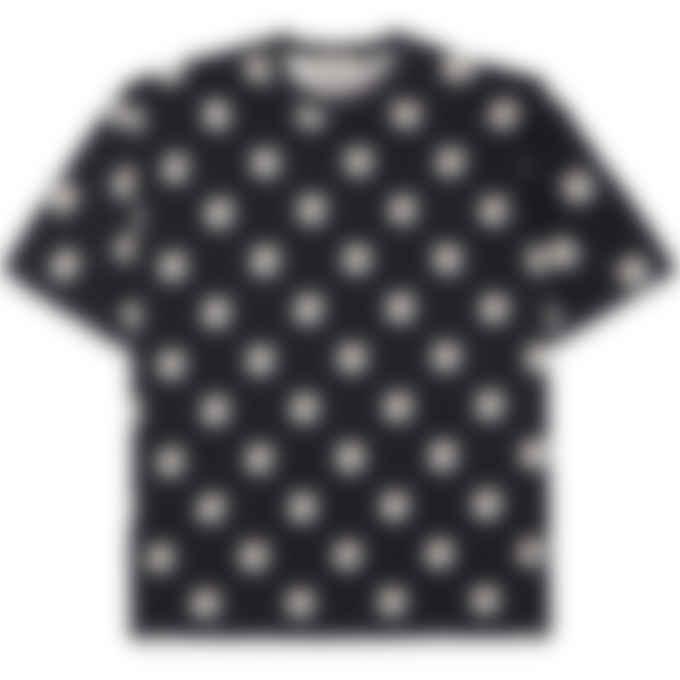 Maison Kitsuné - Allover Pastel Fox Head T-Shirt - Black
