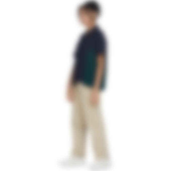 Malice Studios - Satin Paradise Button Up Shirt - Navy/Emerald Green