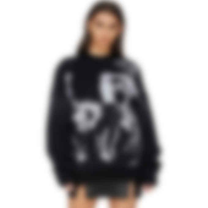 MISBHV - Black & White Raver Knit Sweater - Black