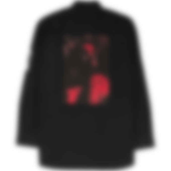 Fred Perry x Raf Simons - Raf Simons Oversized Print Patch Shirt - Black