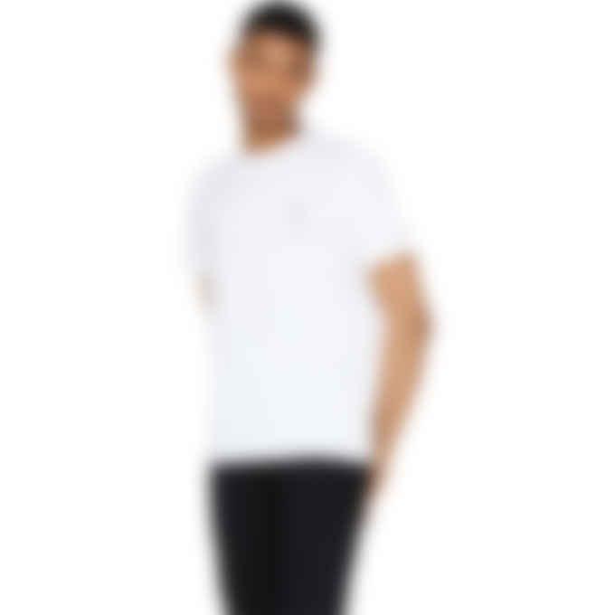 Fred Perry x Raf Simons - Raf Simons Laurel Wreath Pin Detail T-Shirt - White