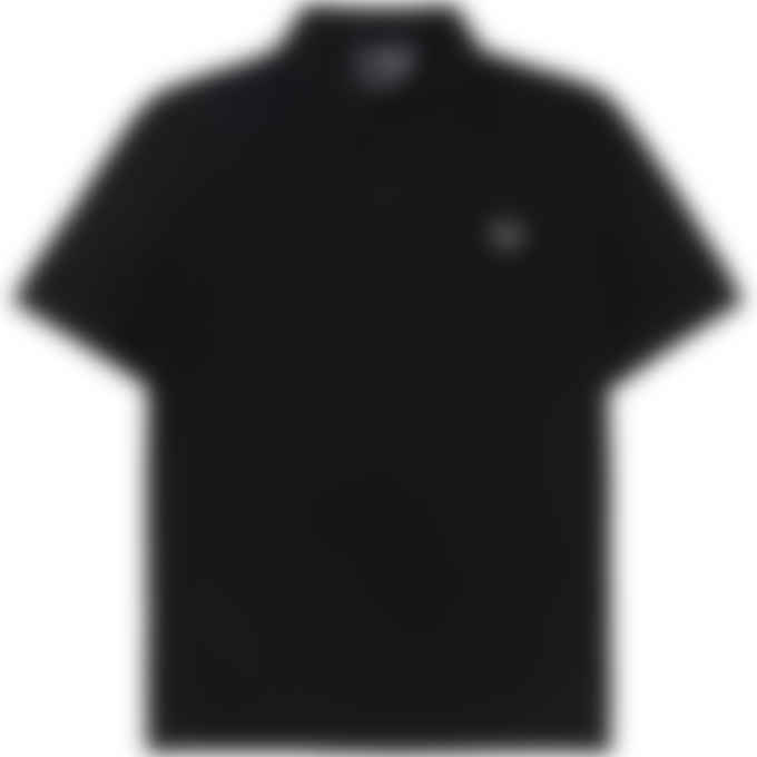 Fred Perry x Raf Simons - Raf Simons Laurel Wreath Detail Polo Shirt - Black
