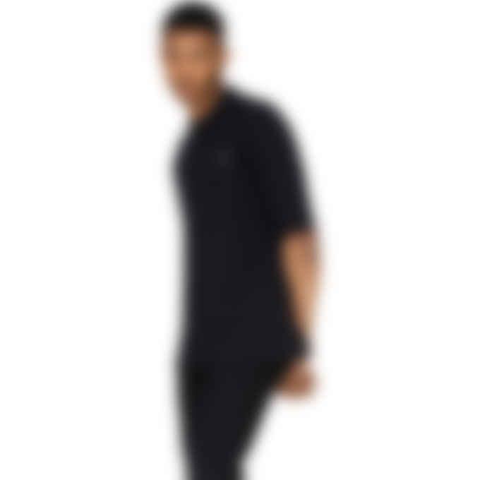 Fred Perry x Raf Simons - Raf Simons Oversized Print Polo Shirt - Black