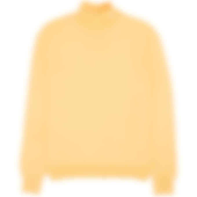 MSGM - High Neck Micro Logo Knit Pullover Sweater - Yellow