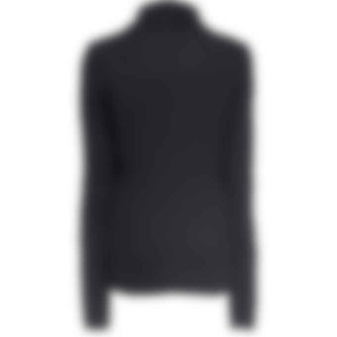 MSGM - Micro Logo High Neck Knit Pullover Sweater - Black