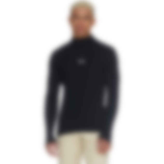 MSGM - Micro Logo Mock Neck Knit Pullover Sweater - Black