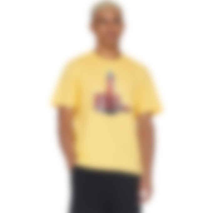 MSGM - Devil Flip Logo T-Shirt - Yellow