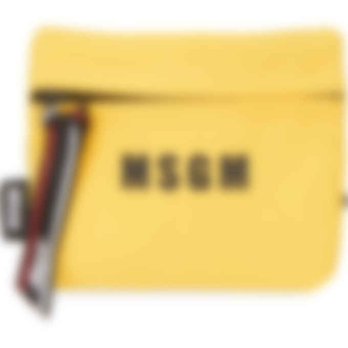 MSGM - Mini Micro Logo Messenger Bag - Yellow