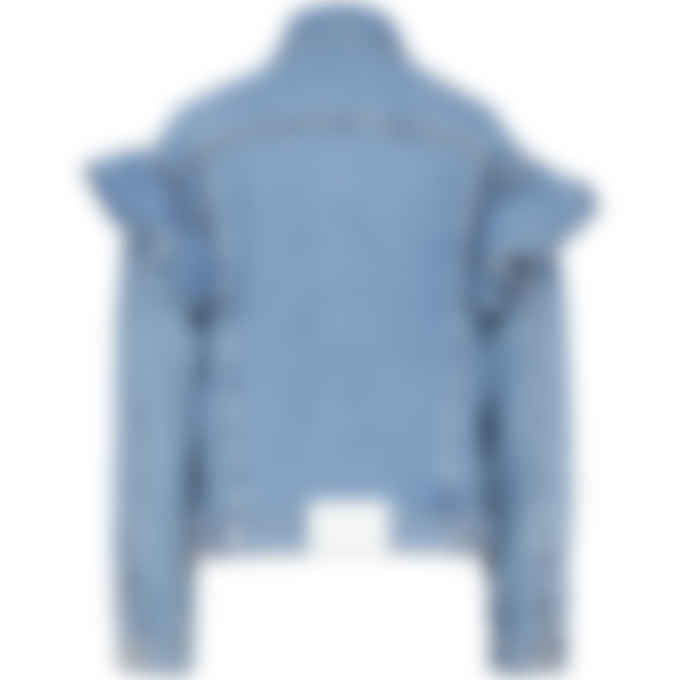 MSGM - Ruffled Denim Jacket - Blue