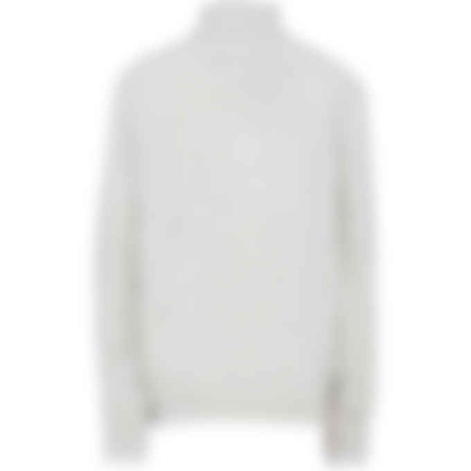 MSGM - Logo Knit Cashmere Turtleneck - Light Grey