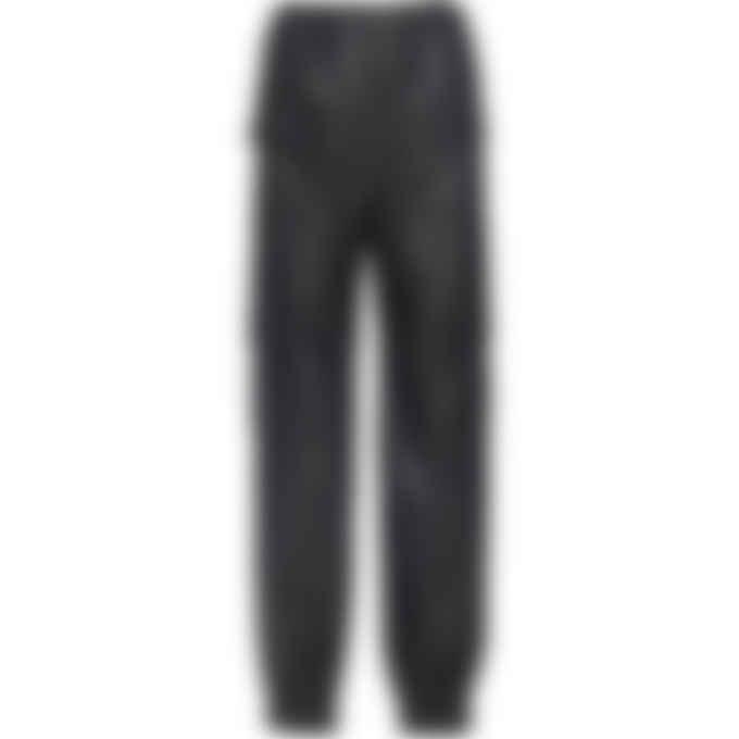 MSGM - Faux Leather Cargo Pants - Black
