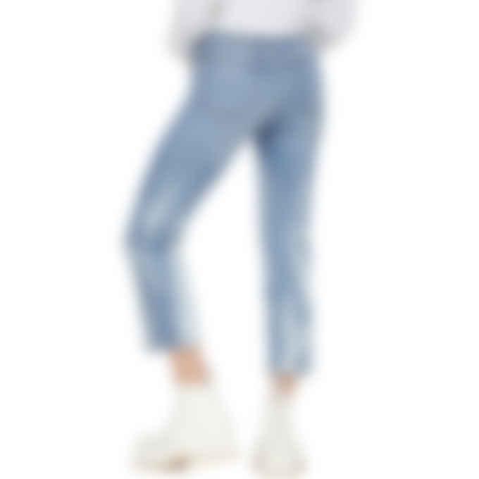 MSGM - Straight Leg Logo Jeans - Blue