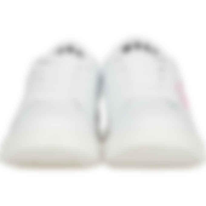 MSGM - Logo Heel Tab Sneakers - White/Pink