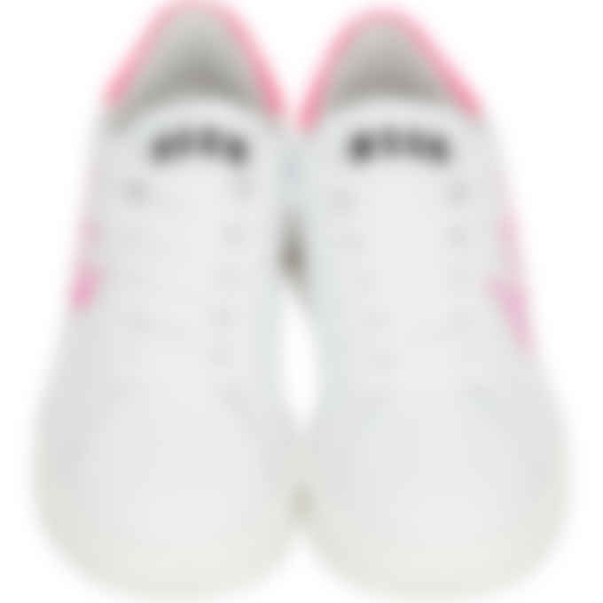 MSGM - Spray Logo Sneakers - White/Pink