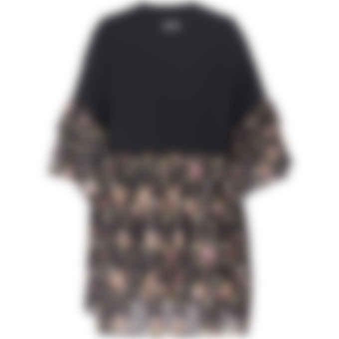 MSGM - Floral Ruffled Dress - Black