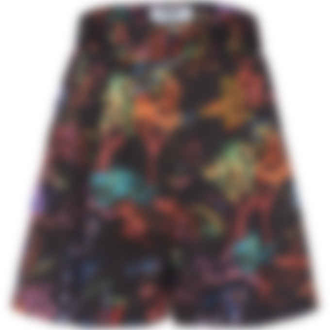 MSGM - Neon Jungle Shorts - Black
