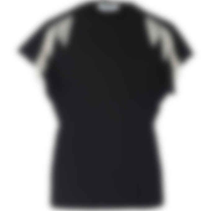MSGM - Swarovski Crystal Fringe T-Shirt - Black