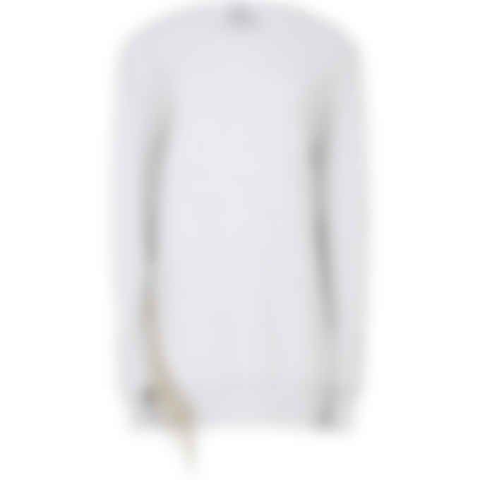 MSGM - Fringe Crystal Pullover Sweater - Light Grey
