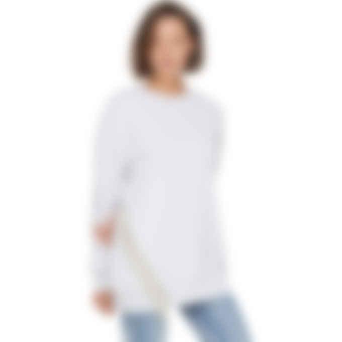 MSGM - Swarovski Crystal Fringe Pullover Sweater - Light Grey