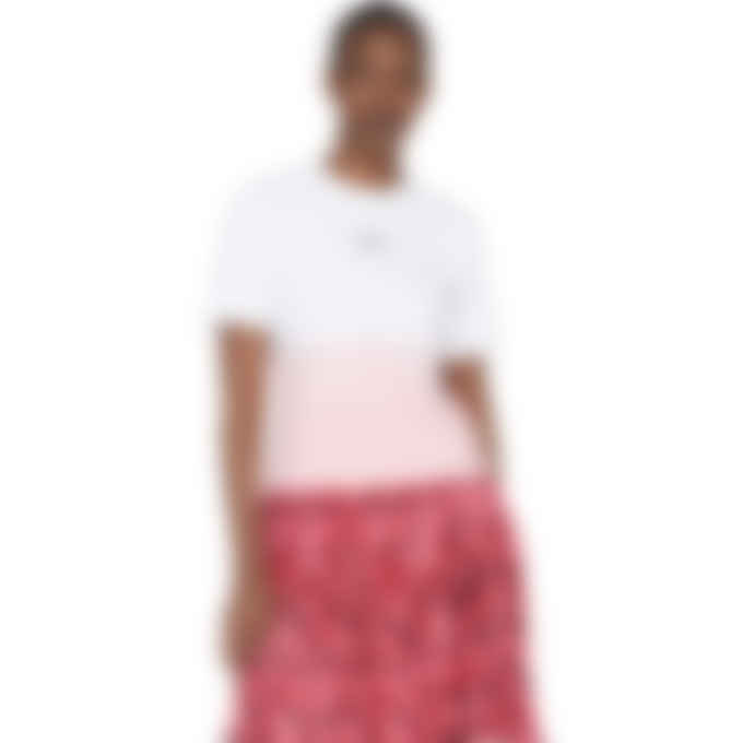 MSGM - Gradient Micro Logo T-Shirt - White/Pink