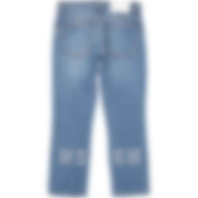 MSGM - Crystal Logo Jeans - Blue