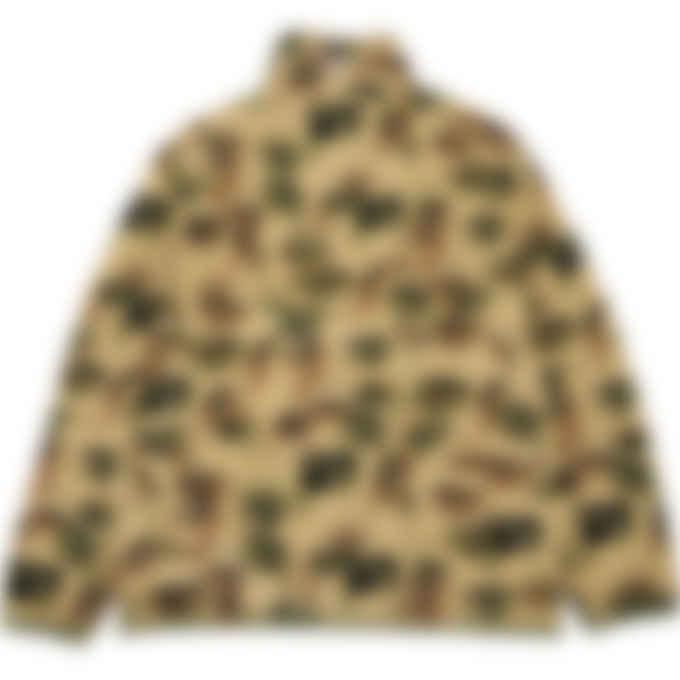 Puma - Puma x KidSuper Printed Fleece Half-Zip Top - Pale Khaki
