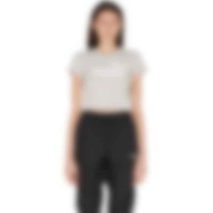 Puma - Amplified Fitted Logo Crop T-Shirt - Light Heather Grey