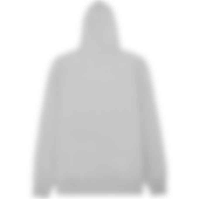 Puma - Classic Embroidered Hoodie - Light Grey Heather