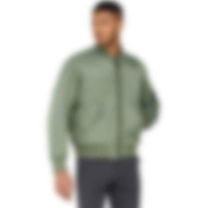 Yves Salomon - Reversible Merino Wool Logo Bomber - Iceberg Green/Pumpkin