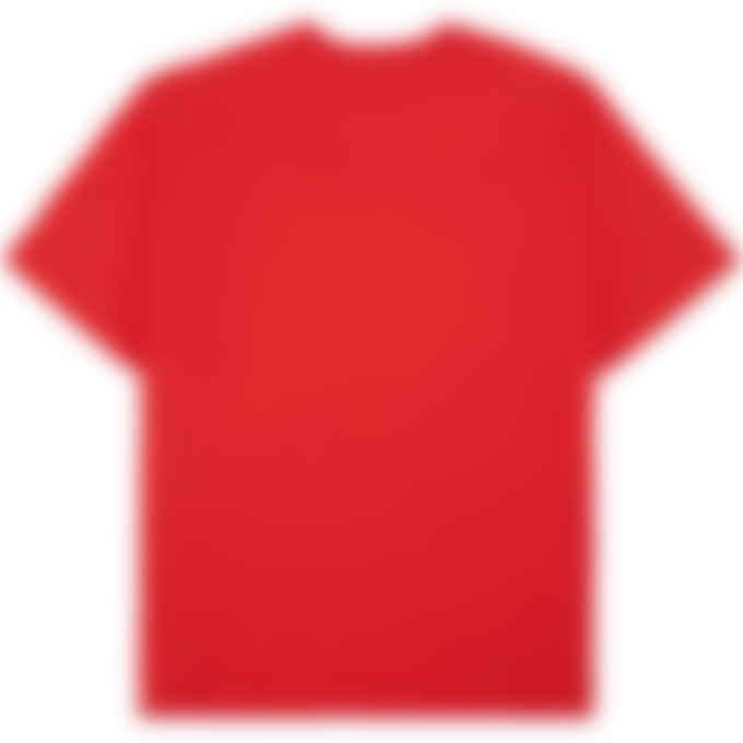 MSGM - Box Logo T-Shirt - Red