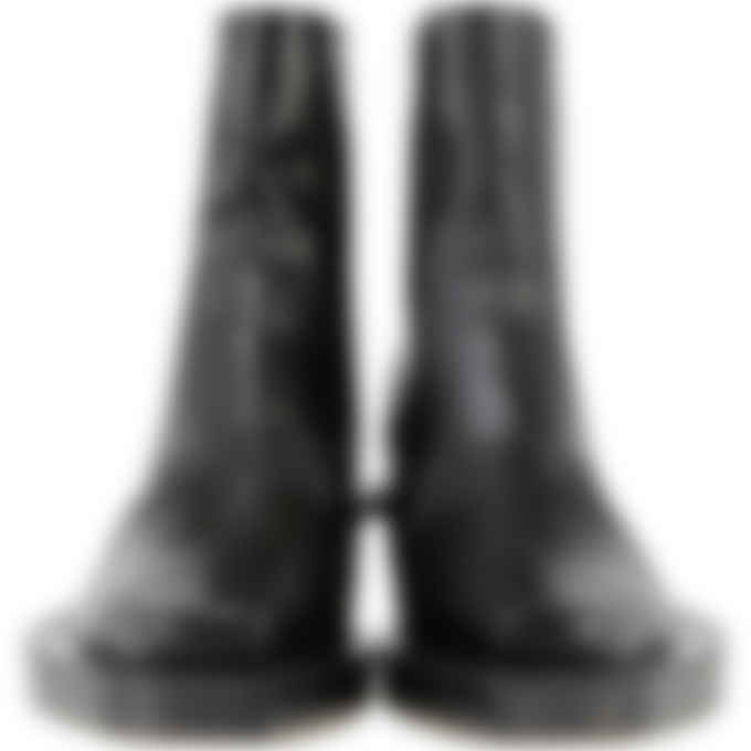 1017 ALYX 9SM - Leather Toad Print Leone Boot - Black