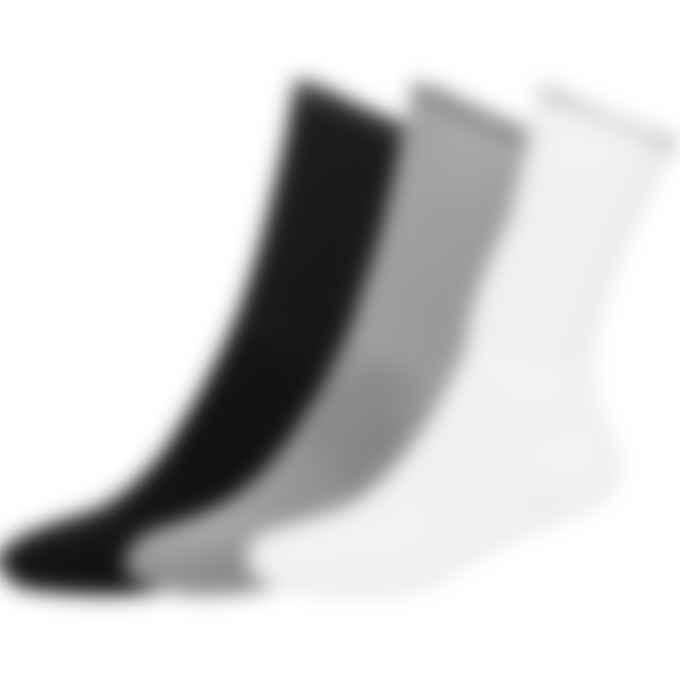 1017 ALYX 9SM - 3Pack Logo Socks - Black/Grey/White