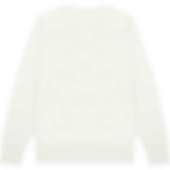 Maison Kitsuné - Fox Head Patch Classic Pullover Sweater - Ecru