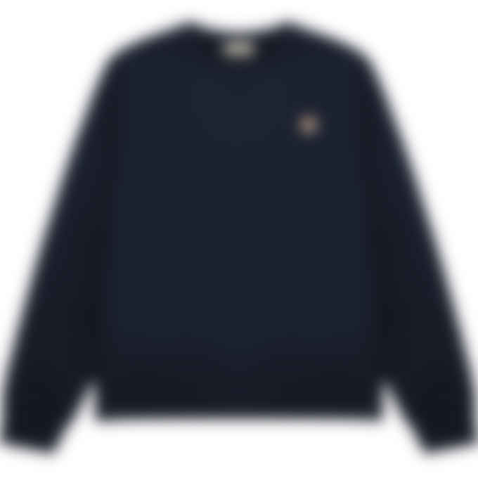 Maison Kitsuné - Fox Head Patch Classic Pullover Sweater - Navy