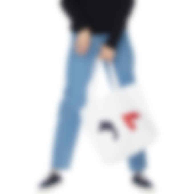 Maison Kitsuné - Tricolor Fox Tote Bag - White