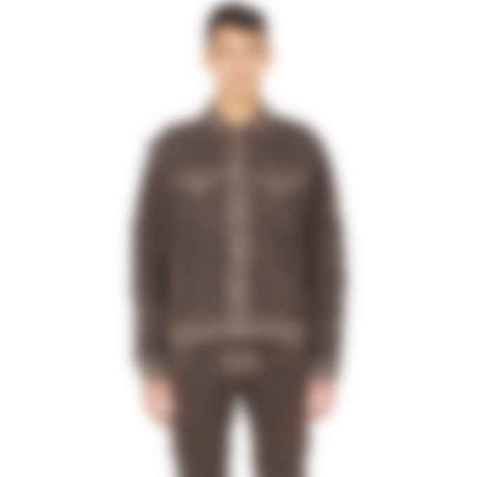1017 ALYX 9SM - Denim Jacket Blackmeans - Brown