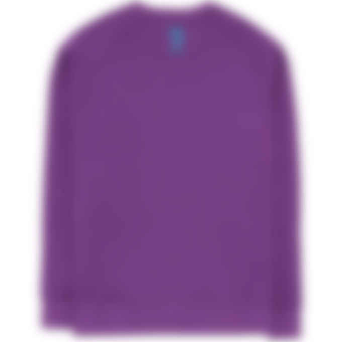 Billionaire Boys Club - Embroidered Serif Logo Crew Pullover Sweater - Purple