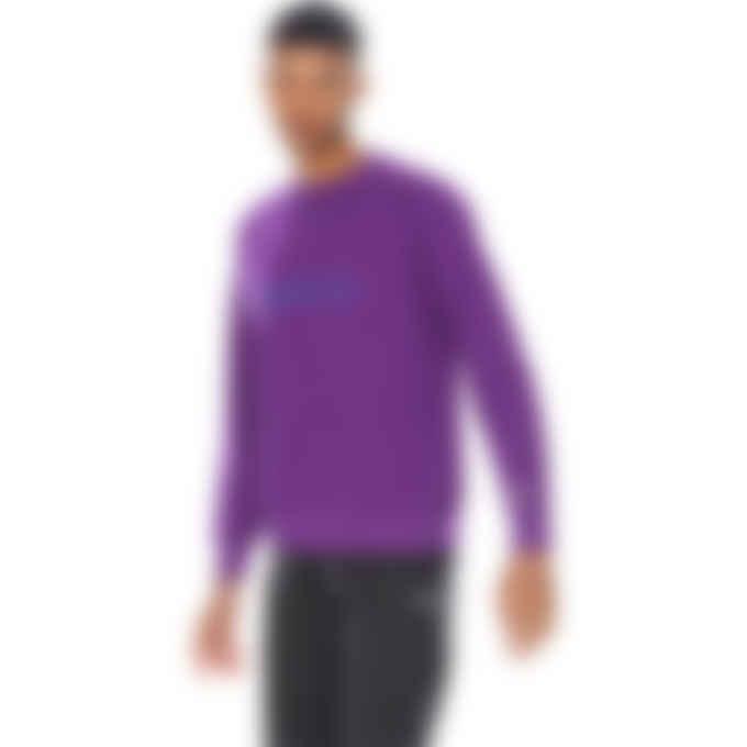 Billionaire Boys Club - Embroidered Serif Logo Crew Pullover Sweater - Purple